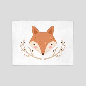 Fox Face 5'x7'Area Rug