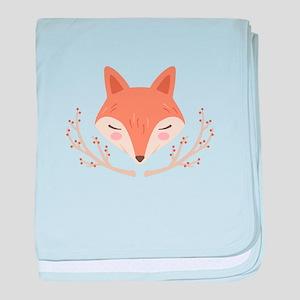 Fox Face baby blanket