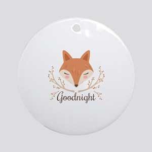 Goodnight Fox Round Ornament