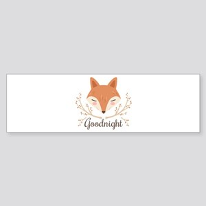 Goodnight Fox Bumper Sticker