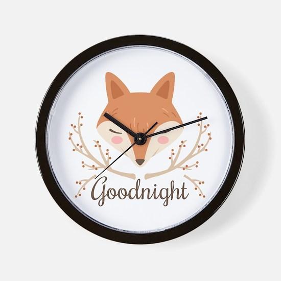Goodnight Fox Wall Clock