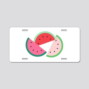 Watermelon Slices Aluminum License Plate