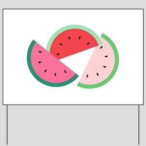 Watermelon Slices Yard Sign