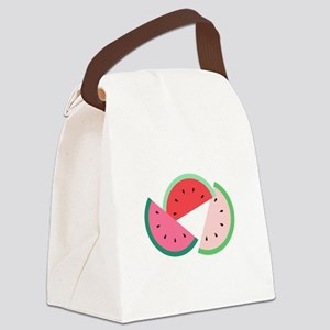 Watermelon Slices Canvas Lunch Bag