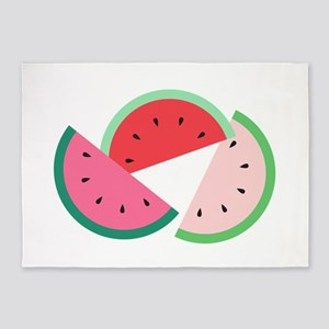 Watermelon Slices 5'x7'Area Rug