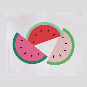 Watermelon Slices Throw Blanket