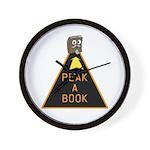 Peak A Book Wall Clock