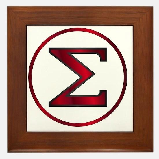 Cute Greek letters Framed Tile