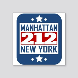212 Manhattan NY Area Code Sticker