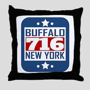 716 Buffalo NY Area Code Throw Pillow