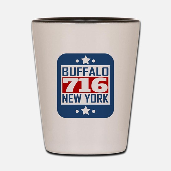716 Buffalo NY Area Code Shot Glass