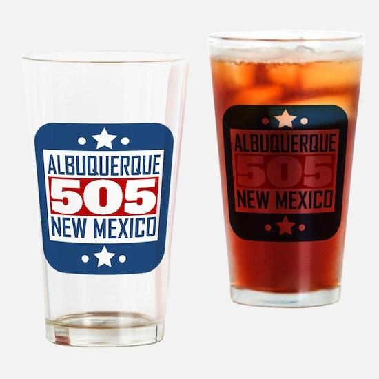 505 Albuquerque NM Area Code Drinking Glass