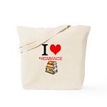 I Heart #romance Books Tote Bag