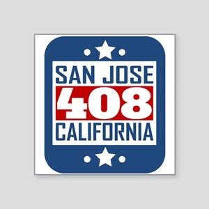 408 San Jose CA Area Code Sticker
