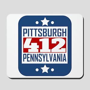 412 Pittsburgh PA Area Code Mousepad