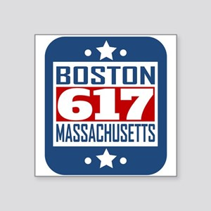 617 Boston MA Area Code Sticker