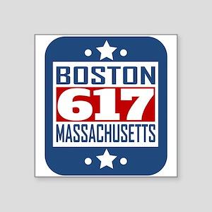 617 Boston MA Area Code Sticker