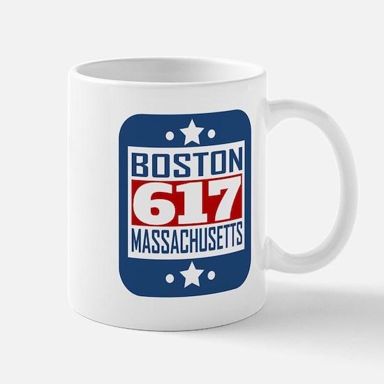 617 Boston MA Area Code Mugs