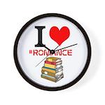 I Heart #romance Books Wall Clock