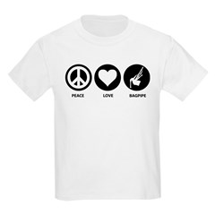 Peace Love Bagpipe T-Shirt