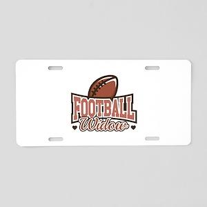 Football Widow Aluminum License Plate