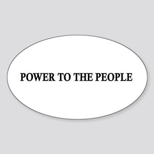 Power To The People Oval Sticker
