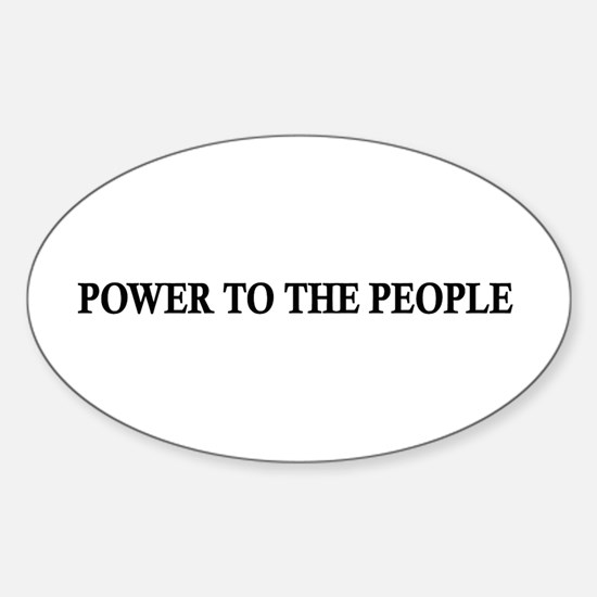 Power To The People Oval Decal