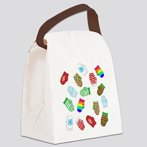 Matching Mittens: white Canvas Lunch Bag