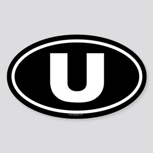 U Oval Sticker