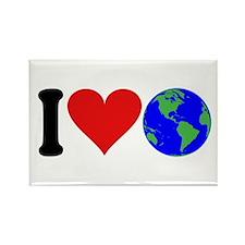 I Love Earth (design) Rectangle Magnet
