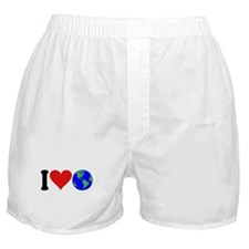 I Love Earth (design) Boxer Shorts