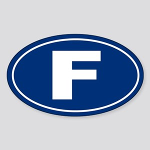 F Oval Sticker