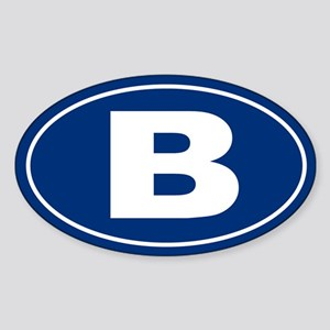 B Oval Sticker