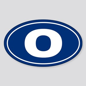 O Oval Sticker