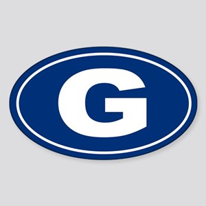 G Oval Sticker