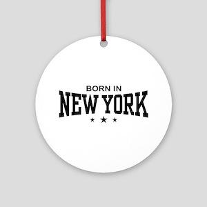 Born In New York Ornament (Round)