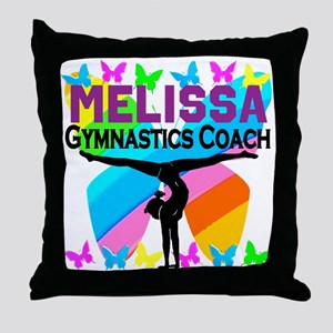 GYMNAST COACH Throw Pillow