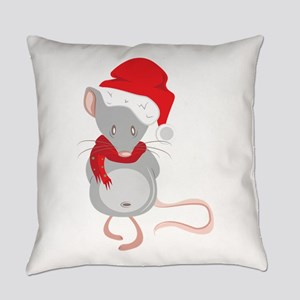Christmas Mouse Everyday Pillow