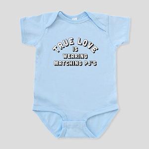 true love is wearing matching Baby Light Bodysuit