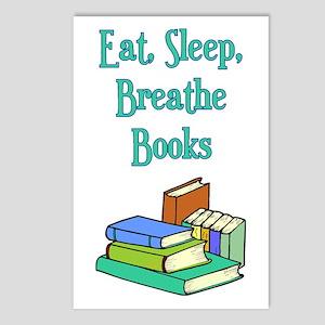 Eat Sleep Breathe Books Postcards (Package of 8)