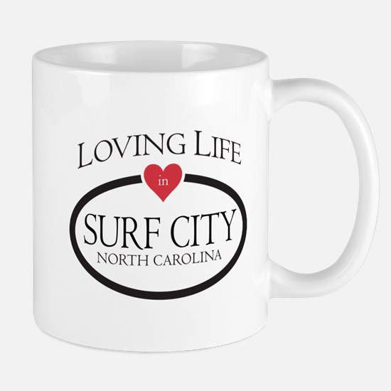 Loving Life in Surf City, NC Mugs
