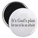 God's Plan: Atheism Magnet