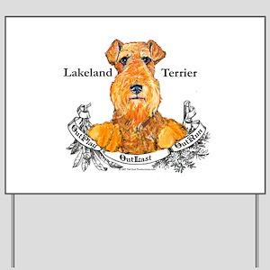 Lakeland Terrier Dog Banner Yard Sign