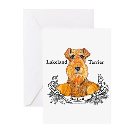 Lakeland Terrier Dog Banner Greeting Cards (Pk of