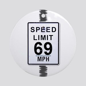 Speed-1a Round Ornament