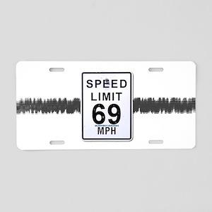 Speed-5 Aluminum License Plate