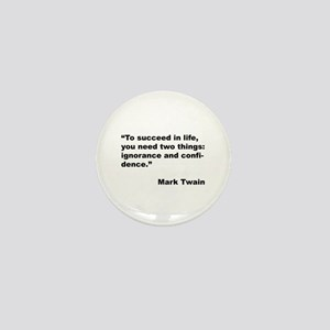 Mark Twain Quote on Success Mini Button