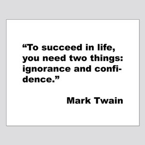 Mark Twain Quote on Success Small Poster