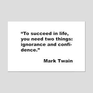 Mark Twain Quote on Success Mini Poster Print