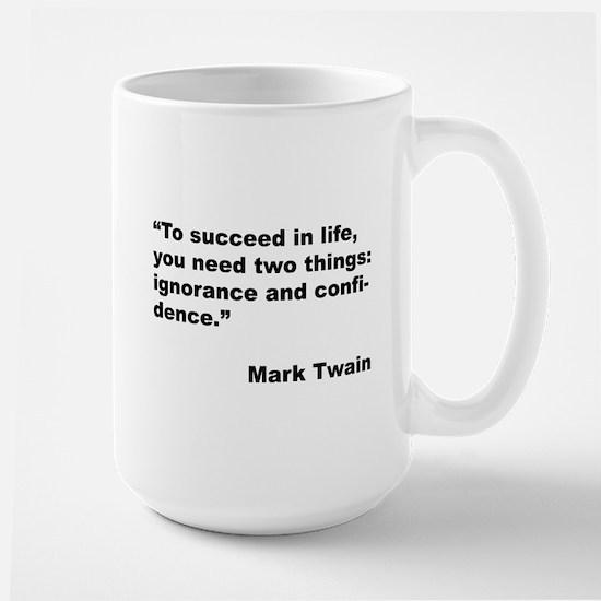 Mark Twain Quote on Success Large Mug